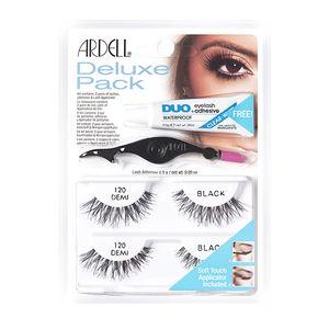 Ardell - Deluxe Pack Ciglia 120 Demi Black + Dual Lash Applicator + Colla Adesiva Trasparente