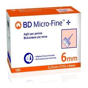 Bd - Ago Penna Per Insulina Bd Microfine G31 6 Mm Confezione 100 Pezzi