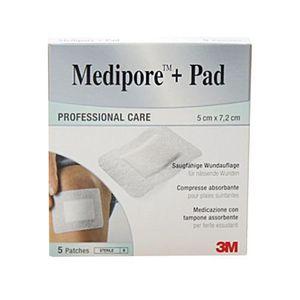 3M Italia - Medipore +Pad Medicazione Sterile 5X7.2 Cm Confezione 5 Pezzi