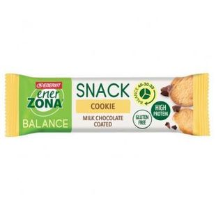 Enervit - Enerzona Snack Cookie Milk Chocolate Coated Confezione 33 Gr
