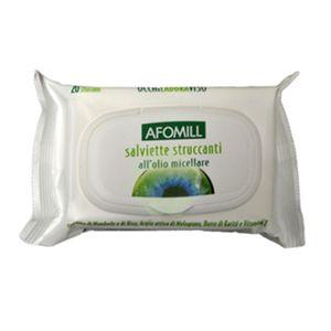 Afomill - Salviette Struccanti Con Olio Micellare Confezione 20 Pezzi