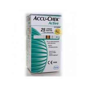 Accu-Chek - Active Strips Confezione 25 Pezzi (Scadenza Prodotto 28/08/2021)