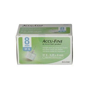 Accu-Fine - Ago G31 8 Mm Confezione 100 Pezzi (Confezione Danneggiata)
