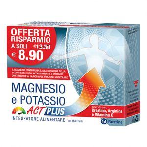 Act Plus - Magnesio E Potassio Confezione 14 Bustine