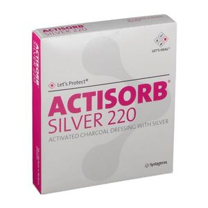 Actisorb Silver 220 - Medicazioni In Carbone Attivo Con Argento 10.5X19 Cm Confezione 10 Pezzi