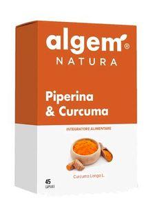 Algem - Piperina E Curcuma Confezione 45 Capsule