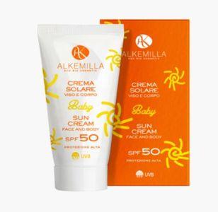 Alkemilla - Crema Solare Viso Corpo Baby Spf 50+ Confezione 150 Ml