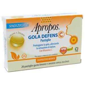 Apropos - Gola Defens C Gusto Limone EZenzero Confezione 20 Pastiglie