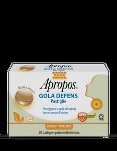 Apropos - Gola Defens Gusto Miele e Limone Confezione 20 Pastiglie