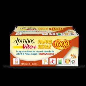 Apropos - Vita+ Pappa Reale 1000 Mg Confezione 10 Flaconcini