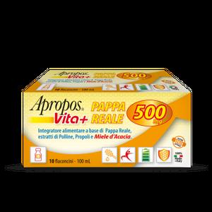 Apropos - Vita+ Pappa Reale 500 Mg Confezione 10 Flaconcini