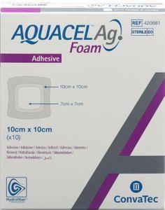 Aquacel - Ag Foam Adesivo 10X10 Cm Confezione 10 Pezzi