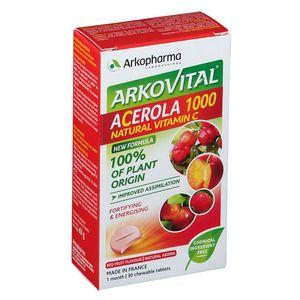 Arkopharma - Arkovital Acerola Masticabile Confezione 30 Compresse