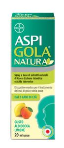 Aspi Gola - Natura Spray Gusto Albicocca E Limone Confezione 20 Ml