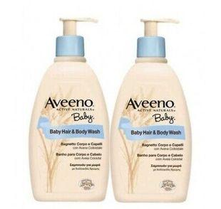 Aveeno - Baby Bagnetto Capelli e Corpo Confezione 2X300 Ml