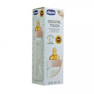 Chicco - Biberon Original Touch Caucciù Girl 0M+ Confezione 240 Ml