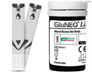 Curafine - GluNeo Strisce Reattive Confezione 25 Pezzi