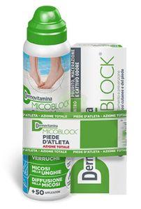 Dermovitamina - Micoblock Piede D'Atleta Crema E Spray Confezione 50 Ml + 100 Ml