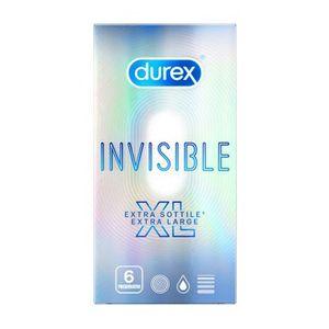Durex - Invisible XL Confezione 6 Pezzi