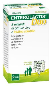 Enterolactis - Duo Polvere Orale Confezione 10 Bustine