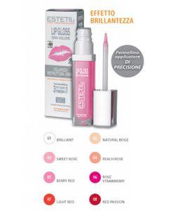 Estetil - Lipgloss Idravolume 3 Funzioni In 1 Colorazione 5 Confezione Stick 6,5 Ml