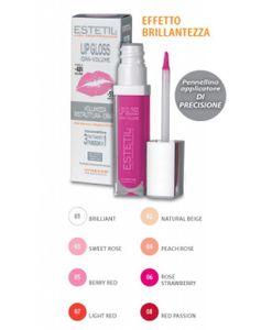 Estetil - Lipgloss Idravolume 3 Funzioni In 1 Colorazione 6 Confezione Stick 6,5 Ml