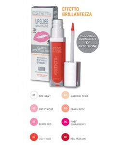 Estetil - Lipgloss Idravolume 3 Funzioni In 1 Colorazione 7 Confezione Stick 6,5 Ml