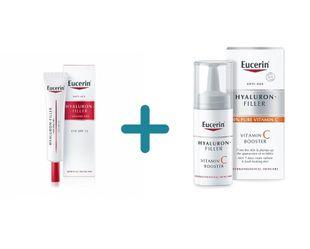 Eucerin - Hyaluron Filler Volume Contorno Occhi Confezione 15 Ml + OMAGGIO Hyaluron Filler Vitamina C Booster Confezione 8 Ml