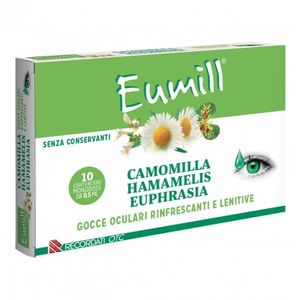 Eumill - Camomilla Gocce Oculari Rinfrescanti e Lenitive Confezione 10X5 Ml