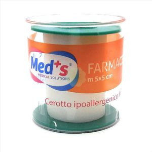 Meds - Cerotto Ipoallergenico Tela 500X5 Cm Confezione 1 Pezzo