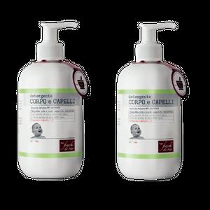 Fiocchi Di Riso - Detergente Corpo e Capelli Talco Non Talco Bipacco Confezione 2X400 Ml