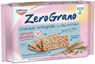 Galbusera - Zerograno Cracker Integrale Senza Glutine Confezione 360 Gr (Scadenza Prodotto 21/06/2021)