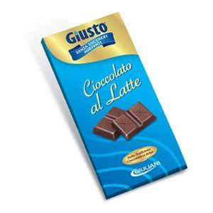 Giusto - Tavoletta Cacao Al Latte Senza Zucchero Confezione 85 Gr (Scadenza Prodotto 28/02/2021)