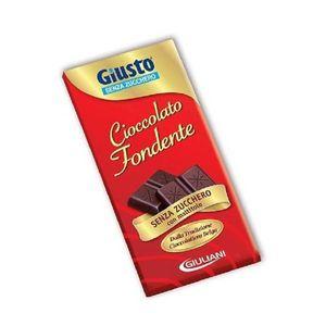 Giusto - Tavoletta Cacao Fondente Senza Zucchero Confezione 85 Gr