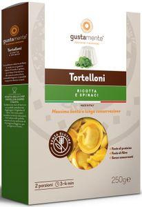 Gustamente - Tortelloni Alla Ricotta e Spinaci Senza Glutine Confezione 250 Gr (Scadenza Prodotto 04/05/2021)