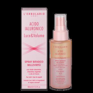 L'Erbolario - Acido Ialuronico Luce&Volume Spray Bifasico Millevirtù Confezione 100 Ml