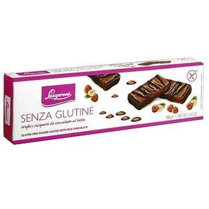 Lazzaroni - Wafer Ricoperti Di Cioccolato Senza Glutine Confezione 100 Gr (Scadenza Prodotto 28/09/2021)