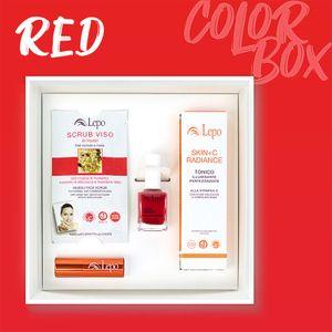 Lepo - Color Box Red Confezione 4 Pezzi