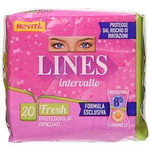 Lines - Intervallo Fresh Proteggi Slip Ripiegati Confezione 20 Pezzi