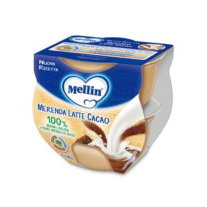 Mellin - Merenda Latte E Cacao Confezione 2x100 Gr