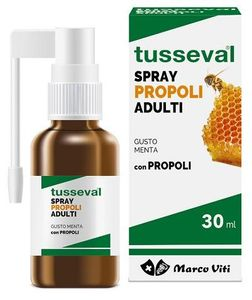 Marco Viti - Tusseval Gola Propoli Spray Adulti Gusto Menta Confezione 30 Ml
