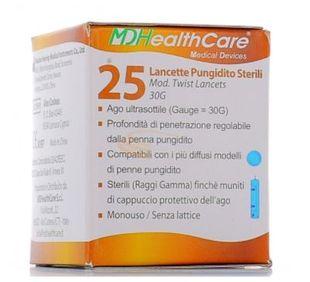 Md Health Care - Lancette Pungidito Confezione 25 Pezzi 30G