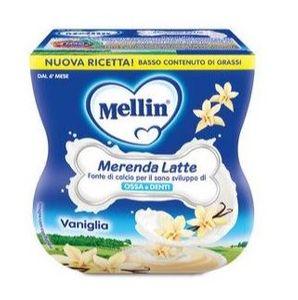 Mellin - Merenda Latte E Vaniglia Confezione 2X100 Gr (Scadenza Prodotto 13/12/2020)