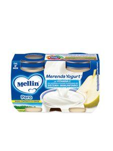 Mellin - Merenda Yogurt e Pera Confezione 2X120 Gr