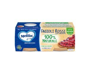 Mellin - Omogeneizzato Fagioli Rossi e Pomodoro Confezione 2X80 Gr