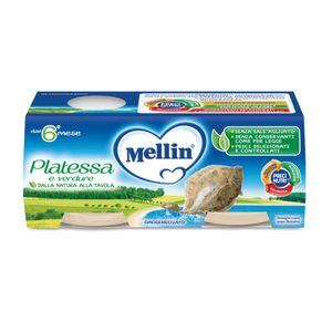 Mellin - Omogeneizzato Platessa E Verdure Confezione 4X80 Gr