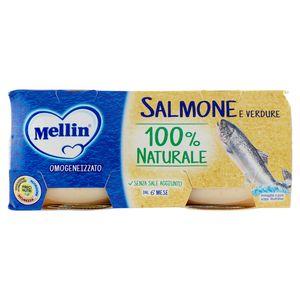 Mellin - Omogeneizzato Salmone e Verdure Confezione 2X80 Gr