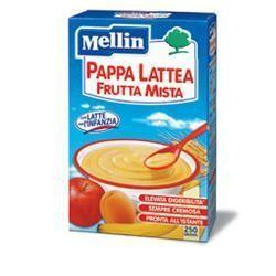 Mellin - Pappa Lattea Frutta Mista Confezione 250 Gr