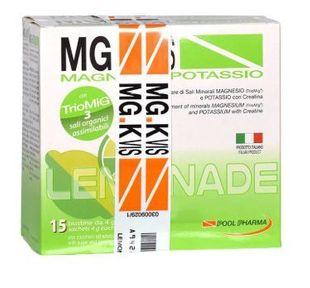 Mg K Vis - Magnesio e Potassio Lemonade Confezione 15 Bustine (Scadenza Prodotto 31/12/2021)