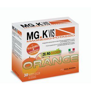 Mg K Vis - Magnesio e Potassio Orange Senza Zucchero Confezione 30 Bustine